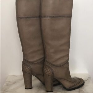 Gucci Wedge Monogram Boots